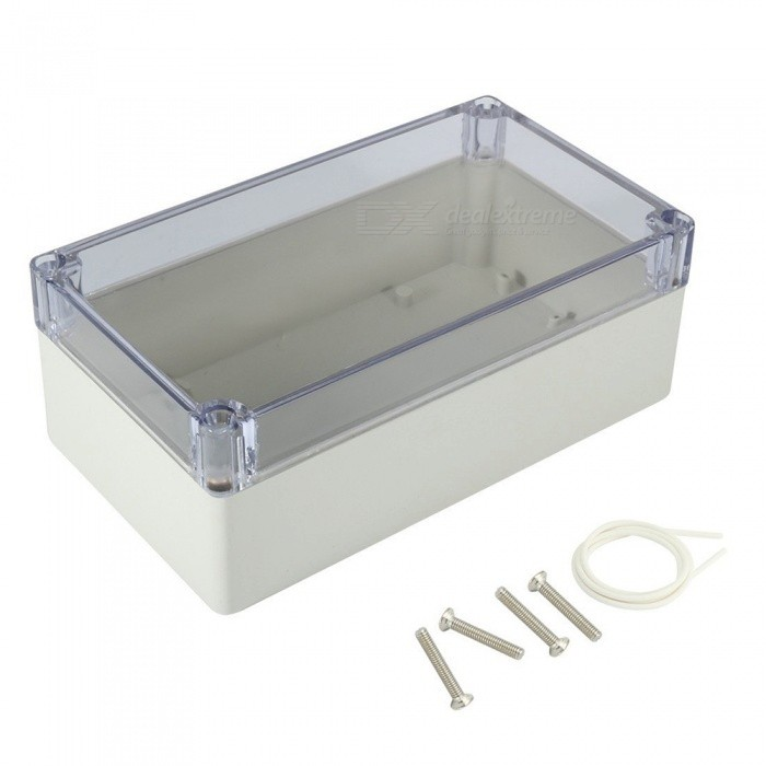 RXDZ 6.2x3.5x2.3 158mmx90mmx60mm ABS Junction Box Universal Project Enclosure w/ PC Transparent CoverDIY Parts &amp; Components<br>ColorGrayQuantity1 pieceMaterialABS + PCEnglish Manual / SpecNoCertificationNOPacking List1 x Junction Box4 x Screws<br>