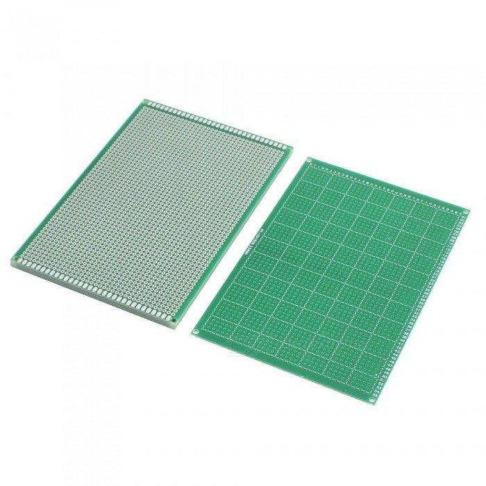 RXDZ 5pcs 2.54mm Hole Pitch Single-Side Prototype Solderable Paper Universal PCB Board 10cmx15cm