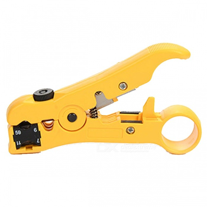 Network Cable Tools Cat5e Cat6 Network Cable Crimping Tool Cable CutterOther Tools<br>ColorYellowQuantity1 DX.PCM.Model.AttributeModel.UnitMaterialABSPacking List1 x Wiring Pliers<br>