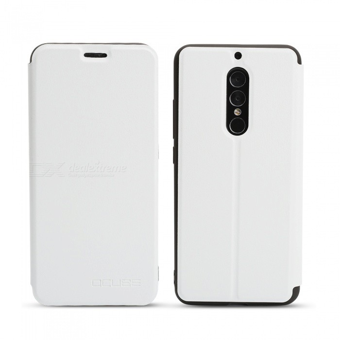 OCUBE Protective Flip-open PU Leather Case for UMIDIGI S2 / S2 Pro - WhiteLeather Cases<br>ColorWhiteModelS2MaterialPU+TPUQuantity1 pieceShade Of ColorWhiteCompatible ModelsUMIDIGI S2 / S2proFeaturesAnti-slip,Dust-proof,Shock-proof,Abrasion resistancePacking List1 x Case<br>