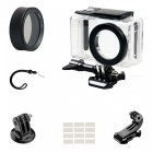 CPL Protective Lens Cover + Camera Waterproof Shell + J Type Base + Strap + Other Parts for Xiaomi MiJia Camera