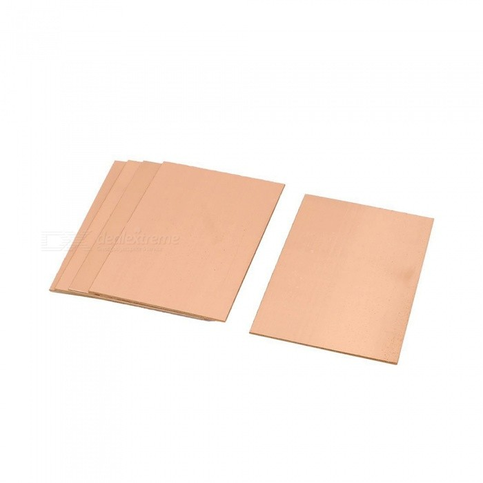 RXDZ 5PCS 70 x 100 x 1.5mm FR-4 Single Side Copper Clad PCB Laminate BoardDIY Parts &amp; Components<br>ColorCopper toneQuantity5 DX.PCM.Model.AttributeModel.UnitMaterialCopper, FR-4English Manual / SpecNoCertificationNOPacking List5 x PCB Laminate Board<br>