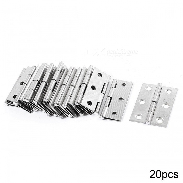 RXDZ 1.7 Length Silver Tone Stainless Steel Single Action Door Butt Hinges - 20PCSDIY Parts &amp; Components<br>ColorSilver toneQuantity20 DX.PCM.Model.AttributeModel.UnitMaterialstainless steelEnglish Manual / SpecNoCertificationNOPacking List20 x Door Hinges<br>
