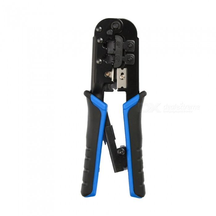 Dual Purpose Pliers Cutter Barker Network Cables Network Crimping Tools Installation and Repair ToolsOther Tools<br>ColorBlue + blackQuantity1 DX.PCM.Model.AttributeModel.UnitMaterialSteel + PP + TPRPacking List1 x Pliers<br>