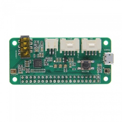 Geekworm ReSpeaker 2-Mics (2 Microphone) Pi HAT Speaker Expansion Board for Raspberry Pi