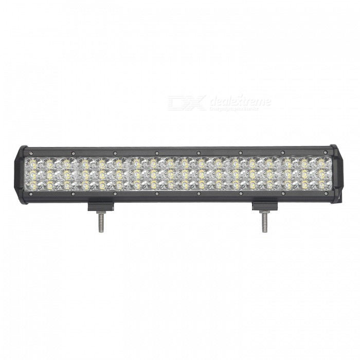 MZ 17.5 Inches Tri-Row 162W LED Work Light Bar Flood 16200LM for OffroadDecorative Lights / Strip<br>Color BIN162W FLOODForm  ColorBlackEmitter TypeLEDChip BrandCreeChip TypeN/ATotal EmittersOthers,54PowerOthers,162WColor Temperature6000 KTheoretical Lumens19440 lumensActual Lumens16200 lumensRate Voltage10-30V DCWaterproof FunctionYesConnector TypeOthers,WiredApplicationHeadlamp,Foglight,Roof light,Daytime running lightModelTri-Row-162W-FQuantity1 pieceMaterialAluminumPacking List1 * LED Work Light<br>