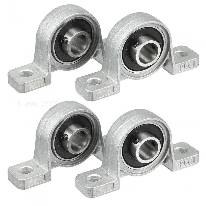 RXDZ 4pcs Pillow Block 8mm Bore Inner Diameter Metal Ball BearingDIY Parts &amp; Components<br>ColorBlackModelP08Quantity4 DX.PCM.Model.AttributeModel.UnitMaterialZinc alloy, rubberEnglish Manual / SpecNoCertificationNOPacking List4 x  Pillow Block Bearing<br>
