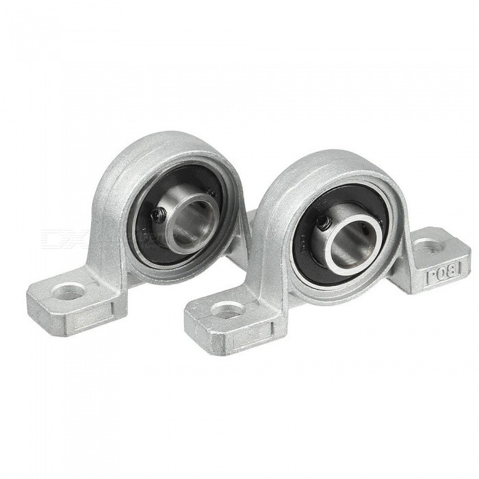 RXDZ 2pcs Pillow Block 8mm Bore Inner Diameter Metal Ball BearingDIY Parts &amp; Components<br>ColorSilverModelP08Quantity2 DX.PCM.Model.AttributeModel.UnitMaterialZinc alloy, rubberEnglish Manual / SpecNoCertificationNOPacking List2 x Housings<br>