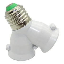 One Turn Two E27 Screw Lamp Holder Converter - White