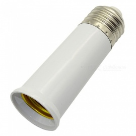 E27 Screw Lamp Holder Lengthen Converter 95mm - White