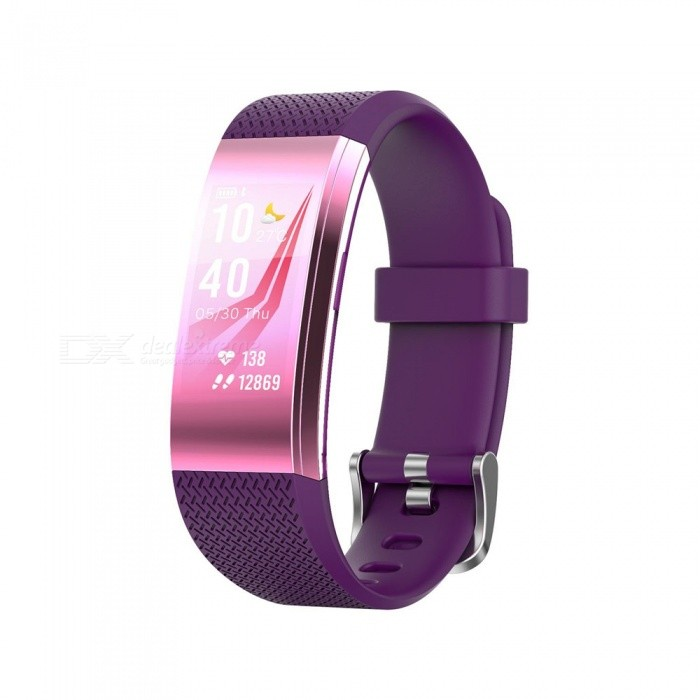 F4 Color Screen Smart Bluetooth Wristband with Heart Rate / Sleep Monitoring, Remote Control Photo - PurpleSmart Bracelets<br>ColorPurpleModelFIT HR F4Quantity1 DX.PCM.Model.AttributeModel.UnitMaterialTPUWater-proofIP67Bluetooth VersionBluetooth V4.0Touch Screen TypeIPSOperating SystemAndroid 4.4,iOSCompatible OSAndroid  IOSBattery Capacity65 DX.PCM.Model.AttributeModel.UnitBattery TypeLi-ion batteryStandby Time10 DX.PCM.Model.AttributeModel.UnitPacking List1 x User usage manual1 x Smart bracelet1 x Charger<br>