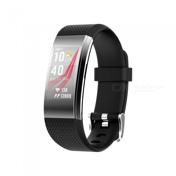 F4 Color Screen Smart Bluetooth Wristband with Heart Rate / Sleep Monitoring, Remote Control Photo - BlackSmart Bracelets<br>ColorBlackModelFIT HR F4Quantity1 DX.PCM.Model.AttributeModel.UnitMaterialTPUWater-proofIP67Bluetooth VersionBluetooth V4.0Touch Screen TypeIPSOperating SystemAndroid 4.4,iOSCompatible OSAndroid  IOSBattery Capacity65 DX.PCM.Model.AttributeModel.UnitBattery TypeLi-ion batteryStandby Time10 DX.PCM.Model.AttributeModel.UnitPacking List1 x User usage manual1 x Smart bracelet1 x Charger<br>