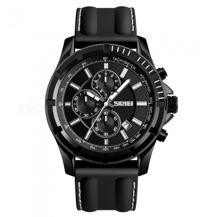 SKMEI 1352 30M Waterproof Mens Silica Gel Band Four Dials Quartz Watch w/ Calendar - BlackQuartz Watches<br>ColorBlackModel1352Quantity1 DX.PCM.Model.AttributeModel.UnitShade Of ColorBlackCasing MaterialAlloyWristband MaterialSilica GelSuitable forAdultsGenderMenStyleWrist WatchTypeFashion watchesDisplayAnalogMovementQuartzDisplay Format12 hour formatWater ResistantWater Resistant 3 ATM or 30 m. Suitable for everyday use. Splash/rain resistant. Not suitable for showering, bathing, swimming, snorkelling, water related work and fishing.Dial Diameter5.5 DX.PCM.Model.AttributeModel.UnitDial Thickness1.2 DX.PCM.Model.AttributeModel.UnitWristband Length27.5 DX.PCM.Model.AttributeModel.UnitBand Width2.4 DX.PCM.Model.AttributeModel.UnitBattery1 x SR626SWPacking List1 x SKMEI 1352 Watch<br>