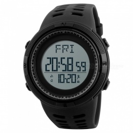 SKMEI 1295 50m Waterproof Men's Digital Sports Watch with Pedometer - Black
