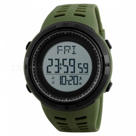 SKMEI 1295 50m Waterproof Men's Digital Sports Watch with Pedometer - Army Green