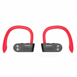 Awei T2 Invisible True Wireless Stereo Noise Cancelling Mini TWS Bluetooth Earphone with Microphone - Red