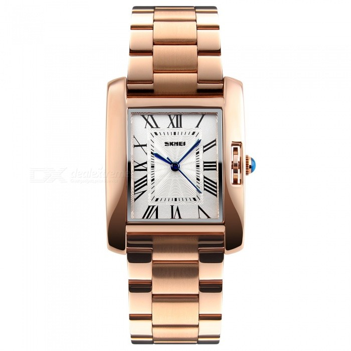 SKMEI 1284 30m Waterproof Stainless Steel Band Womens Quartz Watch - Rose GoldWomens Dress Watches<br>ColorRose GoldModel1284Quantity1 DX.PCM.Model.AttributeModel.UnitShade Of ColorGoldCasing MaterialZINC ALLOYWristband Material304 STAINLESS STEELGenderMenSuitable forAdultsStyleWrist WatchTypeFashion watchesDisplayAnalogMovementQuartzDisplay Format12 hour formatWater ResistantWater Resistant 3 ATM or 30 m. Suitable for everyday use. Splash/rain resistant. Not suitable for showering, bathing, swimming, snorkelling, water related work and fishing.Dial Diameter3.9 DX.PCM.Model.AttributeModel.UnitDial Thickness0.9 DX.PCM.Model.AttributeModel.UnitBand Width2.0 DX.PCM.Model.AttributeModel.UnitWristband Length23 DX.PCM.Model.AttributeModel.UnitBattery1 x SR626SWPacking List1 x SKMEI 1284 Watch<br>
