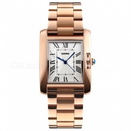 SKMEI 1284 30m Waterproof Stainless Steel Band Women's Quartz Watch - Rose Gold