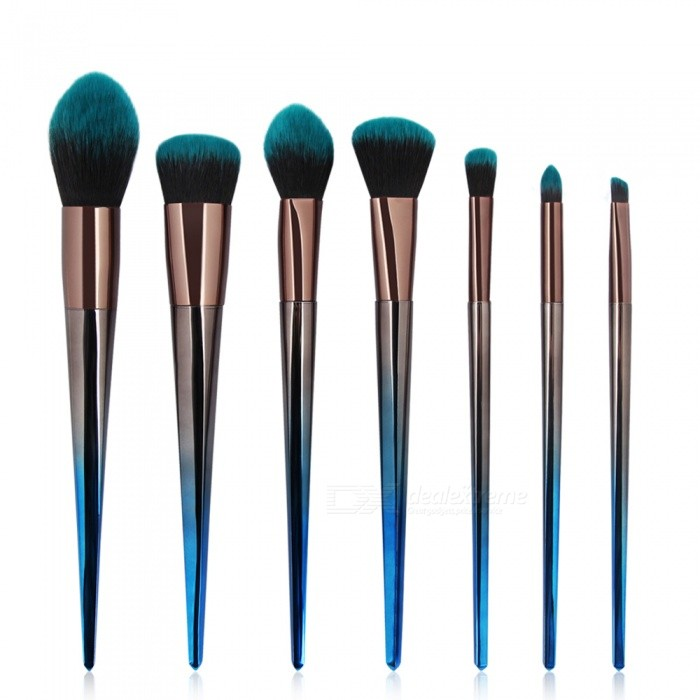 MAANGE 5528 7Pcs Cosmetic Makeup Brushes Tool Set, Powder Contour Eyeshadow Foundation Beauty Make Up Brushes KitMake-up Brushes<br>ColorBlack + BlueModel5528MaterialPlasticQuantity1 DX.PCM.Model.AttributeModel.UnitShade Of ColorBlueHandle materialPlasticBrush head materialFiberPacking List7 x Brushes<br>