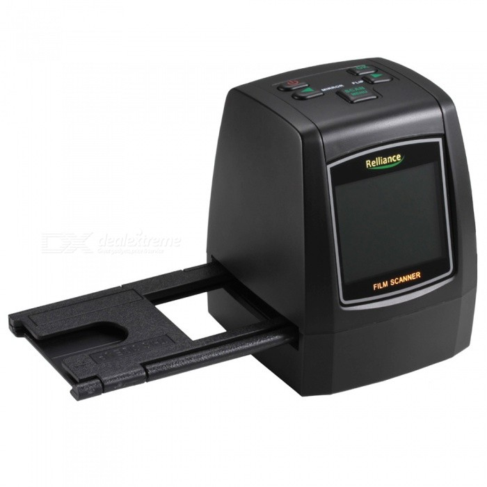 Relliance 14MP/22MP Film &amp; Slide Scanner with Speed-Load Adapters for 35mm Negative &amp; Slides, 110, 126, &amp; Super 8 FilmsScanners<br>ColorBlackModelEC018Quantity1 setMaterialABSInterfaceUSB 2.0Powered ByUSBWireless or WiredWiredTypeImage ScannerSupports SystemWin xp,Win 2000,Win 2008,Win vista,Win7 32,Win7 64,Win8 32,Win8 64,MAC OS X,IOS,LinuxPacking List1 x Scanner1 x  Negative Adapter1 x Slide Adapter1 x 110 Insert1 x Super8 Insert1 x USB Cable1 x Power Adapter1 x TV Cable1 x Cleaning Brush1 x Manual<br>