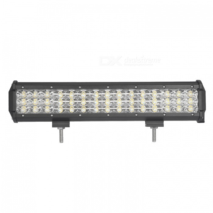 MZ 15 Inches Tri-Row 135W LED Work Light Bar Combo 13500LM for Off-roadDecorative Lights / Strip<br>Color BIN135W COMBOForm  ColorBlackEmitter TypeLEDChip BrandCreeChip TypeN/ATotal EmittersOthers,45PowerOthers,135WColor Temperature6000 DX.PCM.Model.AttributeModel.UnitTheoretical Lumens16200 DX.PCM.Model.AttributeModel.UnitActual Lumens13500 DX.PCM.Model.AttributeModel.UnitRate Voltage10-30V DCWaterproof FunctionYesConnector TypeOthers,WiredApplicationHeadlamp,Foglight,Roof light,Daytime running lightModelTri-Row-135W-CQuantity1 DX.PCM.Model.AttributeModel.UnitMaterialAluminumPacking List1 * LED Work Light<br>