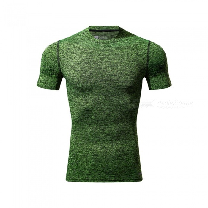 Ctsmart 119 Summer Tight-Fitting Fitness Short Sleeves Quick Drying T-shirt - Green (3XL)Hoodies &amp; Sweatshirts<br>ColorgreenSize3XLModel119Quantity1 DX.PCM.Model.AttributeModel.UnitShade Of ColorGreenMaterialPolyester + spandexStyleSportsShoulder Width71 DX.PCM.Model.AttributeModel.UnitChest Girth102 DX.PCM.Model.AttributeModel.UnitWaist Girth102 DX.PCM.Model.AttributeModel.UnitSleeve Length30 DX.PCM.Model.AttributeModel.UnitTotal Length71 DX.PCM.Model.AttributeModel.UnitSuitable for Height190 DX.PCM.Model.AttributeModel.UnitPacking List1 x T-Shirt<br>