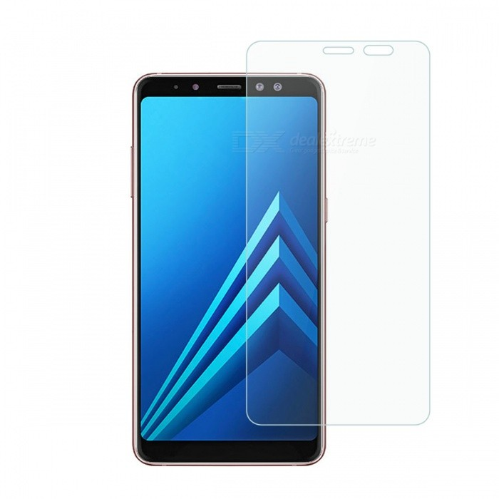 Dayspirit Tempered Glass Screen Protector for Samsung Galaxy A8+ (2018), A730Screen Protectors<br>ColorTransparentModelN/AMaterialTempered glassQuantity1 setCompatible ModelsA8+ (2018) , A730FeaturesTempered glassPacking List1 x Tempered glass screen protector1 x Dust cleaning film 1 x Alcohol prep pad<br>