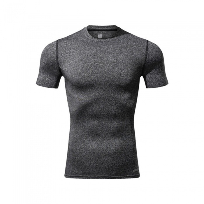 Ctsmart 119 Summer Tight-Fitting Fitness Short Sleeves Quick Drying T-shirt - Light Gray (2XL)Hoodies &amp; Sweatshirts<br>ColorLight graySize2XLModel119Quantity1 pieceShade Of ColorGrayMaterialPolyester + spandexStyleSportsShoulder Width69 cmChest Girth98 cmWaist Girth98 cmSleeve Length29 cmTotal Length69 cmSuitable for Height185 cmPacking List1 x T-Shirt<br>