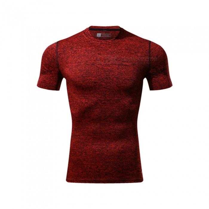 Ctsmart 119 Summer Tight-Fitting Fitness Short Sleeves Quick Drying T-shirt - Red (M)Hoodies &amp; Sweatshirts<br>ColorredSizeMModel119Quantity1 DX.PCM.Model.AttributeModel.UnitShade Of ColorRedMaterialPolyester + spandexStyleSportsShoulder Width65 DX.PCM.Model.AttributeModel.UnitChest Girth86 DX.PCM.Model.AttributeModel.UnitWaist Girth86 DX.PCM.Model.AttributeModel.UnitSleeve Length26 DX.PCM.Model.AttributeModel.UnitTotal Length86 DX.PCM.Model.AttributeModel.UnitSuitable for Height170 DX.PCM.Model.AttributeModel.UnitPacking List1 x T-Shirt<br>