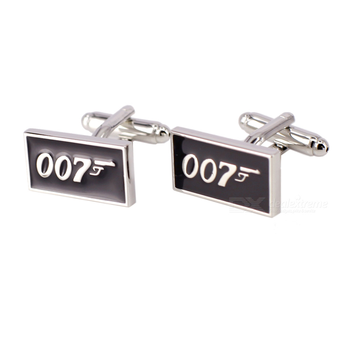 Charming Plating White Steel Cufflinks for Men - Agent 007