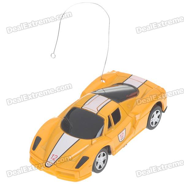 Creative Can Storage Mini Rechargeable R/C Model Racing Car - Yellow (27MHz/2*AA)