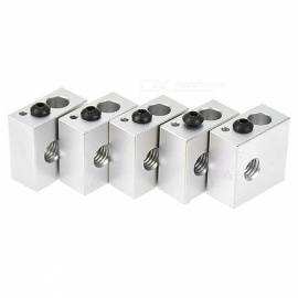 ZHAOYAO MK7 / MK8 Aluminum Alloy Fixing Heating Block for 3D Printer (5 PCS)