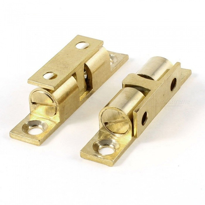 RXDZ 50mm Long Home Door Brass Double Ball Catch Hardware - Golden ( 2 PCS)DIY Parts &amp; Components<br>ColorGoldenQuantity2 piecesMaterialBrassEnglish Manual / SpecNoCertificationNOPacking List2 x Double Ball Catches<br>
