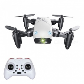 S9 RC helicopter, 2.4G 4-kanaals 6-assige gyro mini opvouwbare zak drone quadcopter / afstandsbediening speelgoed - wit