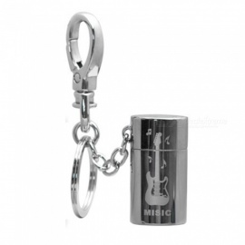 HONEST Outdoor Mini Stylish Gas Lighter Gift with Key Chain - Black