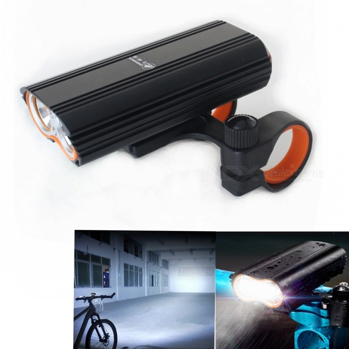 ZHISHUNJIA LR-Y2 1600lm 4-Mode LED Flashlight Headlamp, USB Rechargeable Bicycle Lamp