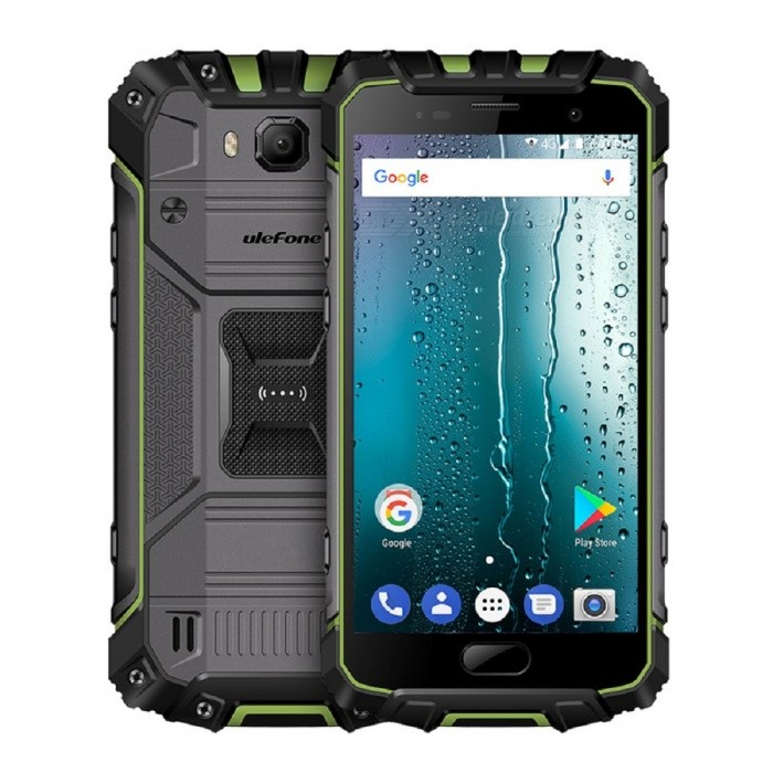Ulefone Armor 2S Android 7.0 Waterproof IP68 5.0'' MT6737T FHD 9V 2A Type-C Quick-Charge 4G Phone w/ 2GB RAM / 16GB ROM - Green