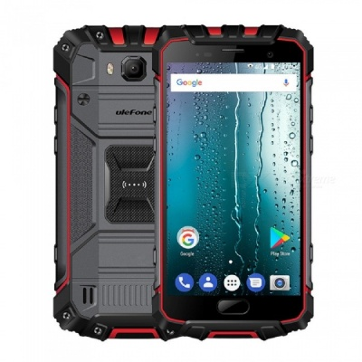 Ulefone Armor 2S Android 7.0 Waterproof IP68 5.0'' MT6737T FHD 9V 2A Type-C Quick-Charge 4G Phone w/ 2GB RAM / 16GB ROM - Red