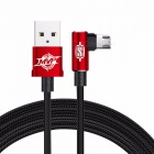Baseus reversible micro usb 2a fast charging / data sync cable for samsung xiaomi huawei tablet android phones 200cm/red