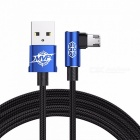 Baseus reversible micro usb 2a fast charging / data sync cable for samsung xiaomi huawei tablet android phones 100cm/blue