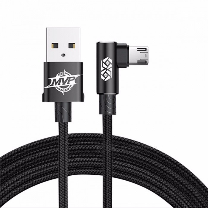 Baseus Reversible Micro USB 2A Fast Charging / Data Sync Cable Samsung Xiaomi Huawei Tablet Android Phones 100cm/Black