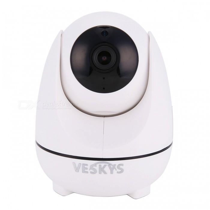 VESKYS 1080P 2.0MP HD Smart Wi-Fi IP Camera with Intelligent Cruise for Auto Tracking Moving Objects - US PlugIP Cameras<br>Power AdapterUS PlugModelN/AMaterialABSQuantity1 pieceImage SensorCMOSLens3.6mmPixels2.0MPViewing AngleOthers,86 °Video Compressed FormatH.264Picture Resolution1920 x 1080PFrame Rate15-20FPSInput/OutputBuilt-in microphone / Audio line-outMinimum Illumination0 LuxNight VisionYesIR-LED Quantity9Night Vision Distance10 mWireless / WiFi802.11 b / g / nNetwork ProtocolTCP,IP,HTTP,DHCP,uPnP,PPPoESupported SystemsOthers,NOSupported BrowserOthers,NOSIM Card SlotNoOnline Visitor4IP ModeDynamicMobile Phone PlatformAndroid,iOSSmart AlarmMotion DetectionFree DDNSYesIR-CUTYesBuilt-in Memory / RAMNoLocal MemoryYesMemory CardTFMax. Memory Supported64GBMotorYesRotation AngleHorizontal:355 degree Vertical: 105 degreeSupported LanguagesEnglish,Simplified ChineseWater-proofNoIntercom FunctionYesPacking List1 x IP Camera 1 x USB Cable 1 x US Plug power adapter (110~240V)1 x Camera Fixed chassis1 x Pack of installation accessories1 x English user manual<br>