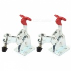 RXDZ 13005 Red Plastic Covered Handle 68Kg Vertical Toggle Clamp Hand Tool - 2PCS