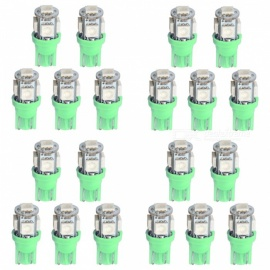 QooK T10 0.6W 5-SMD 5050 Green LED Car Side Wedge Light (DC 12V / 20PCS)