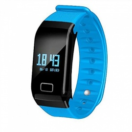 BLCR F1 Waterproof Smart Watch Bracelet with Fitness Activity Tracker, Heart Rate Monitor for IPHONE and Android Phones - Blue