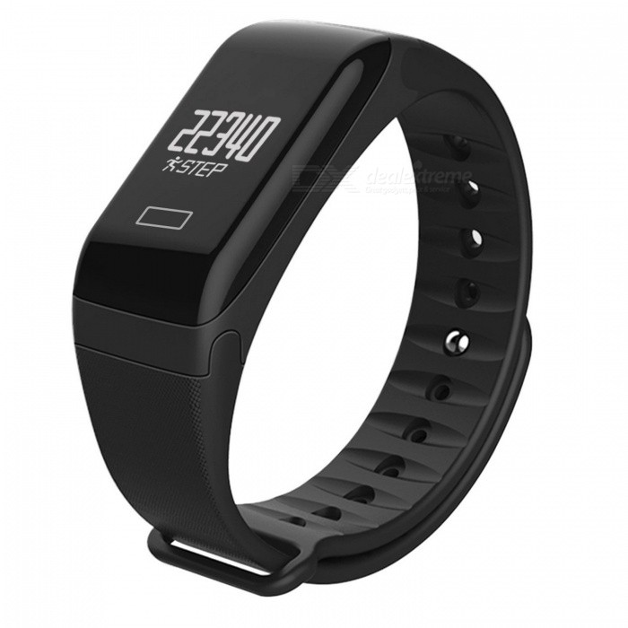 BLCR F1 Waterproof Smart Watch Bracelet with Fitness Activity Tracker, Heart Rate Monitor for IPHONE and Android Phones - BlackSmart Bracelets<br>ColorBlackQuantity1 setMaterialSilicone + PCWater-proofIP67Bluetooth VersionBluetooth V4.0Touch Screen TypeYesCompatible OSIOS version 8.0 and above and supports Bluetooth 4.0 devices.<br>Android 4.4 and above and supports Bluetooth 4.0 devicesBattery Capacity80 mAhBattery TypeLi-polymer batteryStandby Time3~5 daysPacking List1 x Smart Wristabnd1 x Charging Cable1 x User Manual<br>