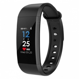i9 Smart Bracelet IP68 Sports Watch Fitness Tracker with Pedometer, Heart Rate, Blood Pressure Monitoring - Black