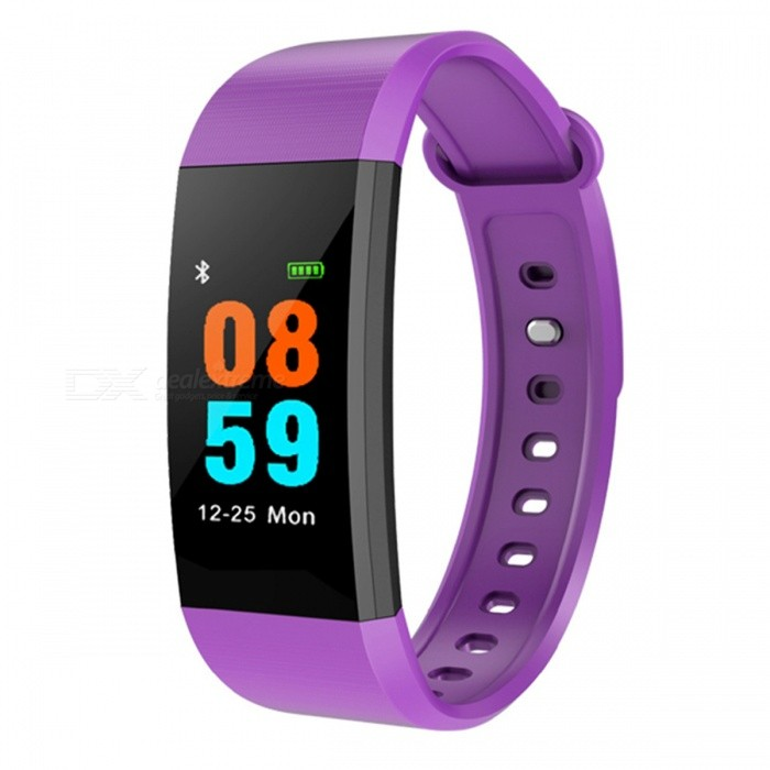 i9 Smart Bracelet IP68 Sports Watch Fitness Tracker with Pedometer�� Heart Rate�� Blood Pressure Monitoring - Purple