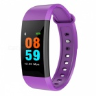 i9 Smart Bracelet IP68 Sports Watch Fitness Tracker with Pedometer, Heart Rate, Blood Pressure Monitoring - Purple