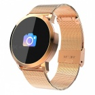 Q8 Smart Bracelet IP67 Waterproof Fitness Tracker Wrist Band with Real-time Heart Rate Monitoring - Gold